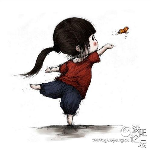清新/春天给他扎起小辫子,带她到郊外抓蝴蝶!